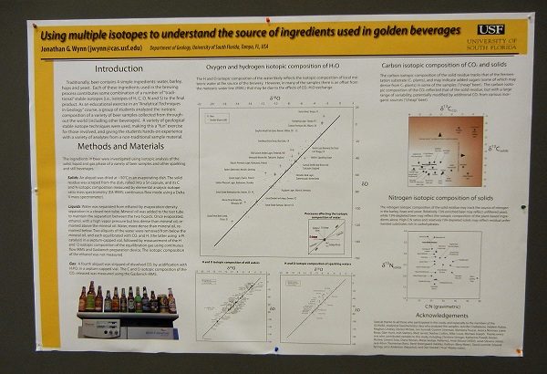 Poster presentations are not all about big topics, but they do feature new science.