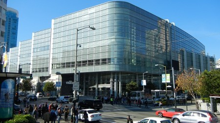 Moscone Center West holds just part of the enormous annual AGU meeting. This building, by the way, is built to keep functioning after a major earthquake.Photos by Andrew Alden