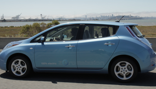 Test driving the Nissan Leaf