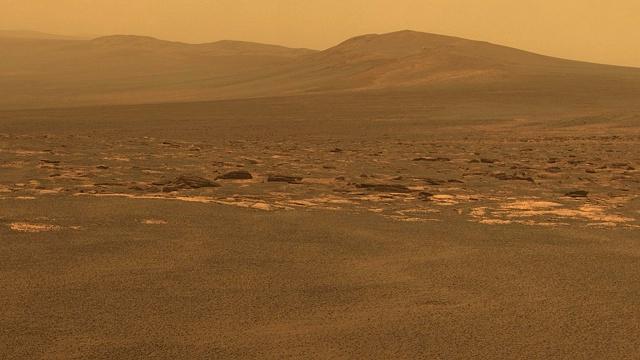 Endeavour crater, Mars, 6 August 2011. NASA/JPL-Caltech/Cornell/ASU image.