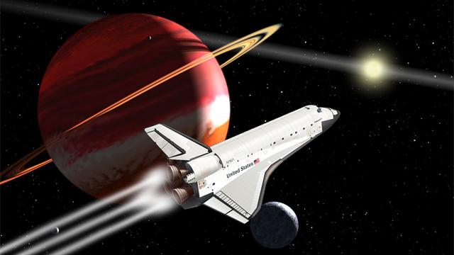 Hypothetical Space Shuttle at Epsilon Eridani