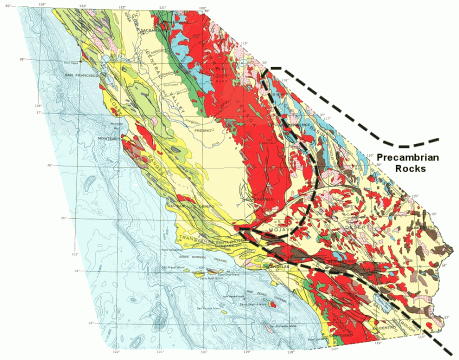 Californias And The Worlds Oldest Rocks QUEST KQED Science - West coast us rock age map geology