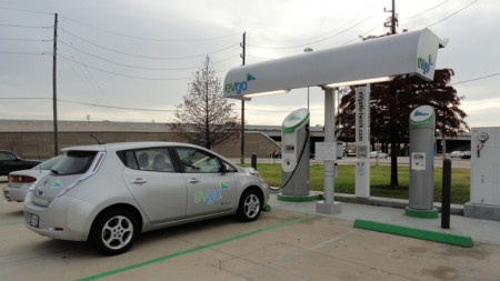 eVgo electric car charging station in Houston, Texas