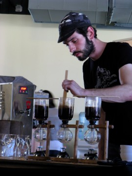 Brewing coffee in SouthWest Regional Barista Championship