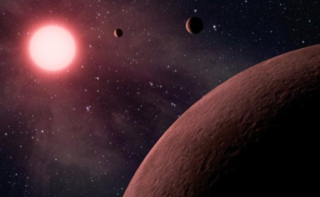 Artist's concept of mini planetary system found by Kepler. Credit: NASA