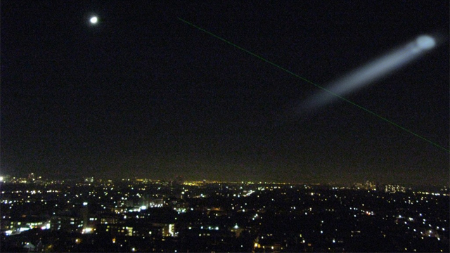 Unexplained sighting in the night sky. Credit for base image: Nayu Kim
