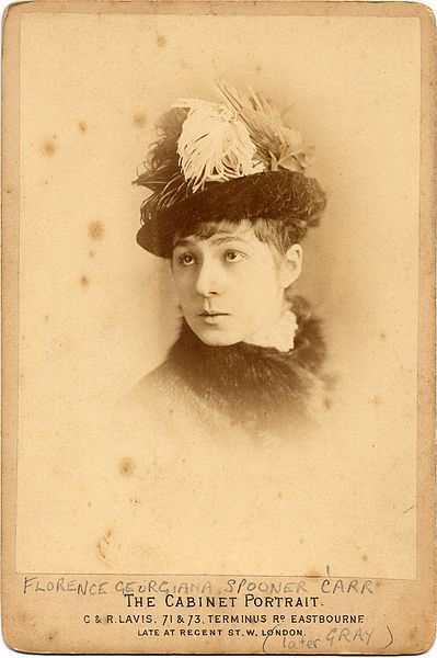 Victorian woman's hat with egret feathers, 1878 by Eastbourne