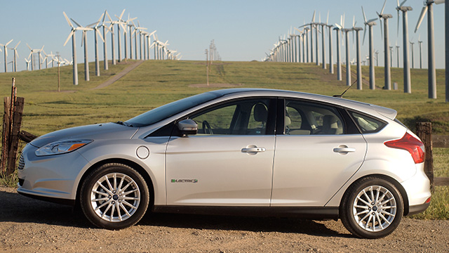 2012 Ford Focus Electric near the Altamone Pass.
