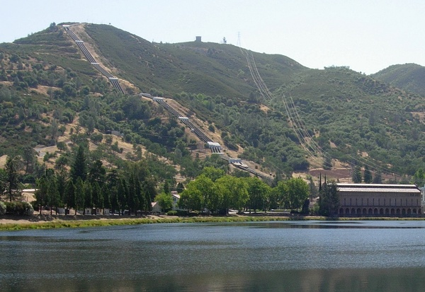 Hetch Hetchy water drives turbines at the Moccasin power plant south of Jamestown.