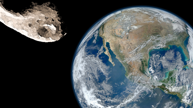 Earth and Near-Earth Asteroid--dramatization only