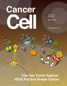 Cancer Cell cover - cartoon cell