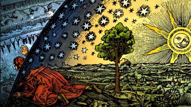 From a Flammarion woodcut, unknown artist.