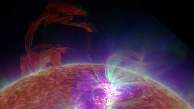 Ultraviolet image of the SUn, NASA Solar Dynamics Observatory-July 28 2012