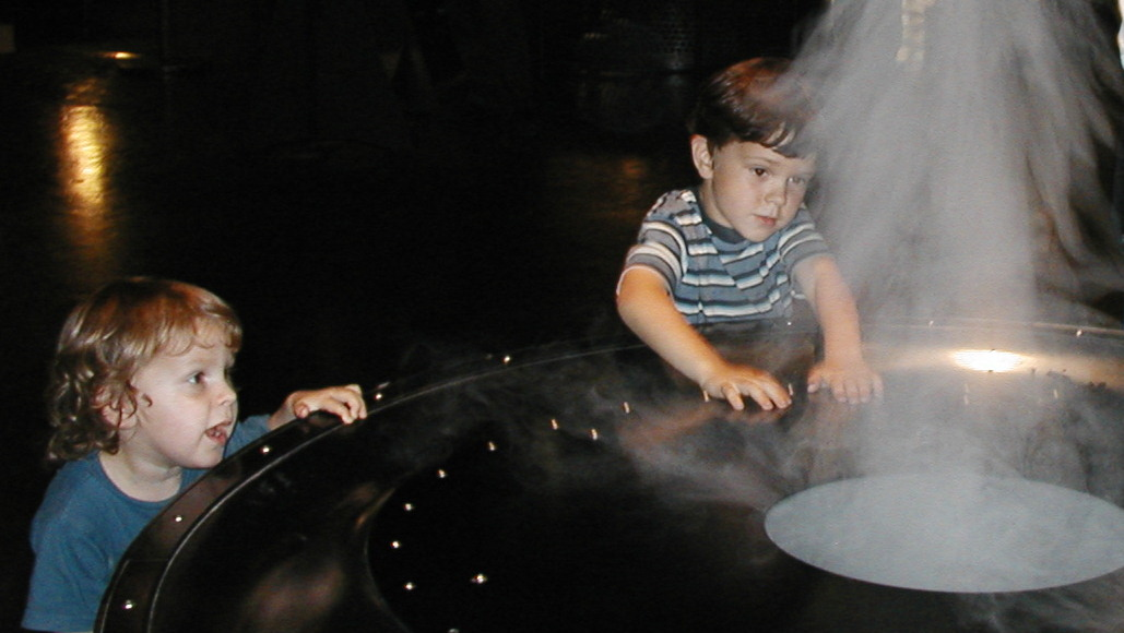 Blowing Smoke Exploratorium exhibit