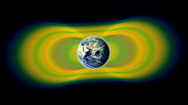 A diagram of the Earth's radiation belts, where killer electrons are found. (Image:  NASA/Van Allen Probes/Goddard Space Flight Center)