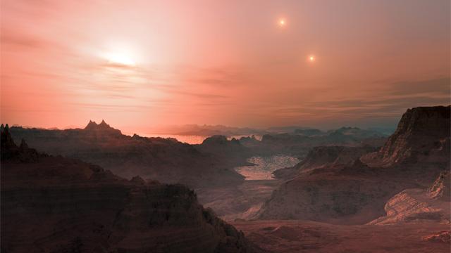 Artist concept of exoplanet Gliese 667 Cc. Credit: L. Calcada/ESA
