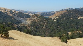 Landslide at the Calaveras Reservoir