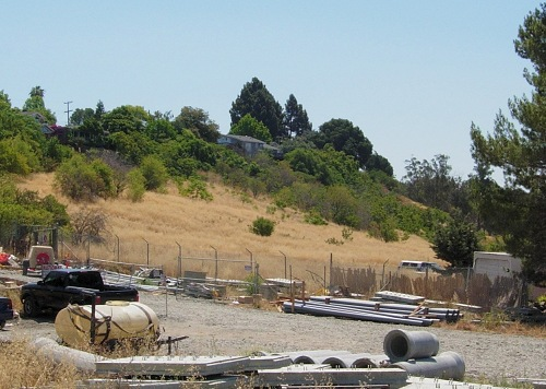 How the Irvington Station area looked in June 2009