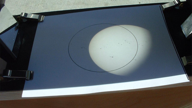 Image of Sun through a Sunspotter telescope