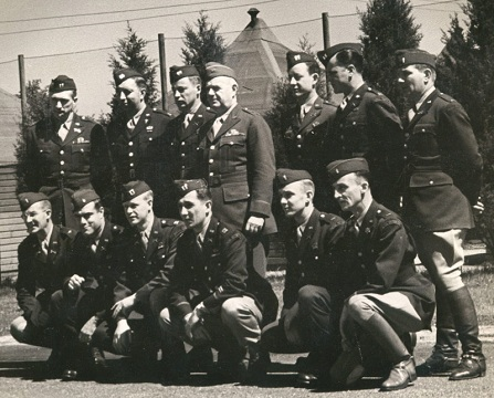 OSS founder Maj. Gen. William J. Donovan with members of the OSS Operational Groups