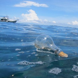 A light bulb moment for #Litterati user @goproinparadise.  This image was taken off the coast of Koh Phi Phi, Thailand.
