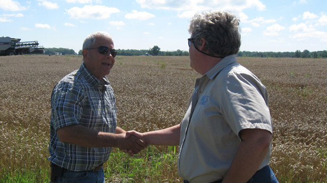 Ohio farmer Terry McClure volunteered to be a test site for researchers studying how farm runoff fuels harmful algal blooms in Lake Erie.