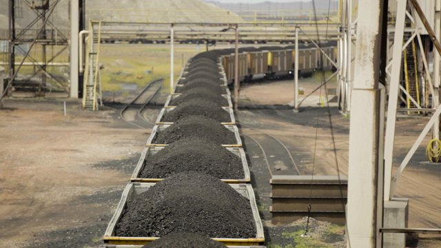 coal train Wyoming
