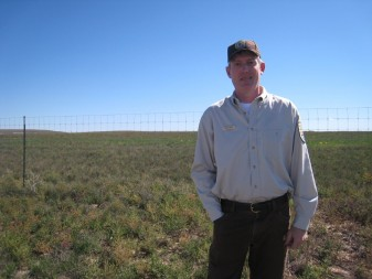 David Lucas manages the Rocky Mountain Arsenal National Wildlife Refuge. (Photo by Ariana Brocious, NET News)