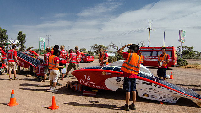 Stanford solar car race image