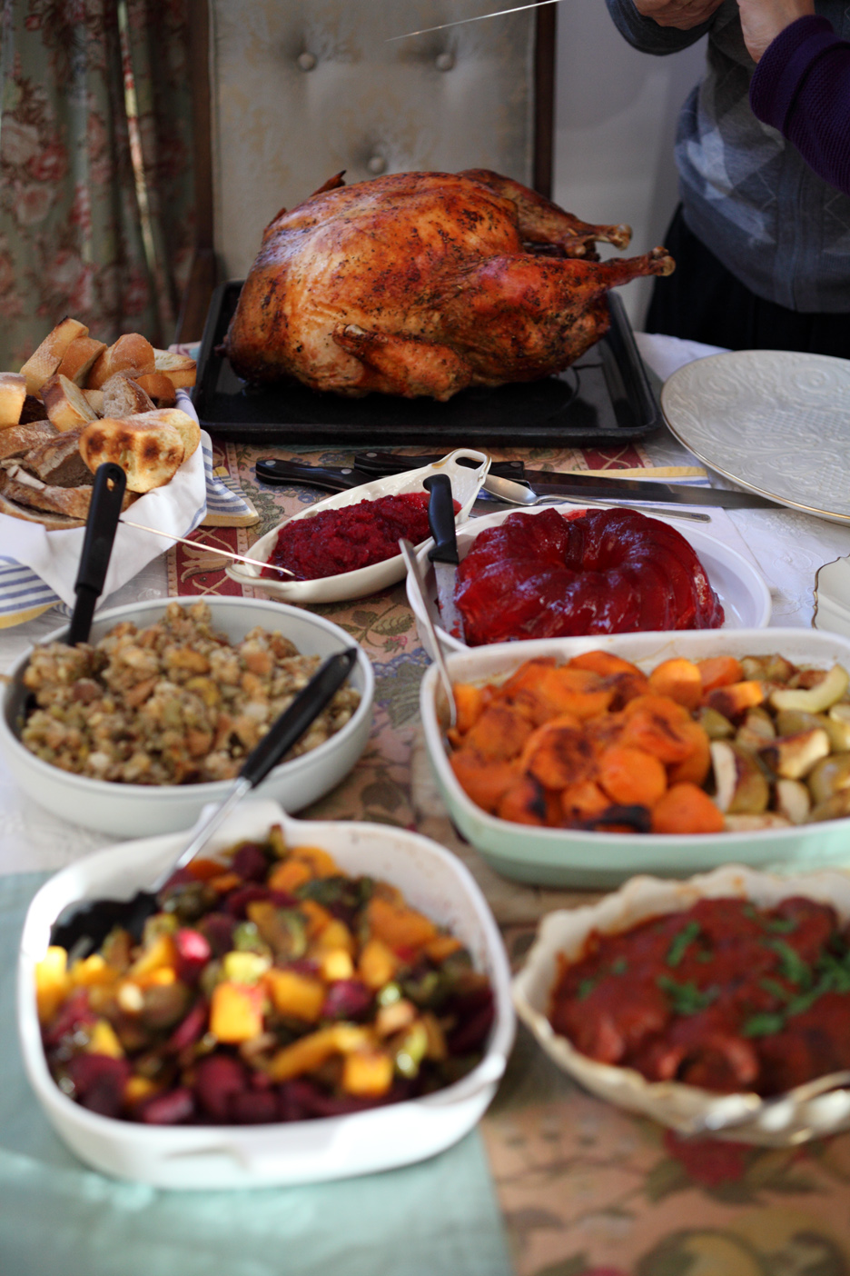 A typical Thanksgiving feast. Image courtesy of ccho.