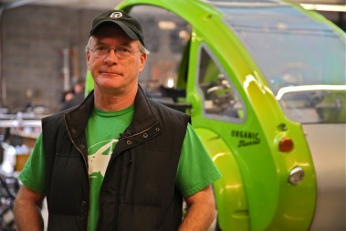 Rob Cotter, a lifelong inventor, started his company Organic Transit after a career designing high-end race cars. Photos by David Huppert/UNC-TV.