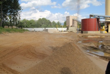 A pile of frac sand awaits processing.  Photo credit: Tegan Wendland/Wisconsin Center for Investigative Journalism.