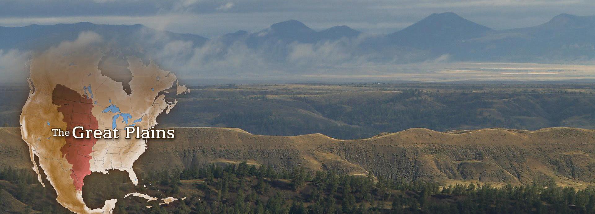Great Plains map and landscape