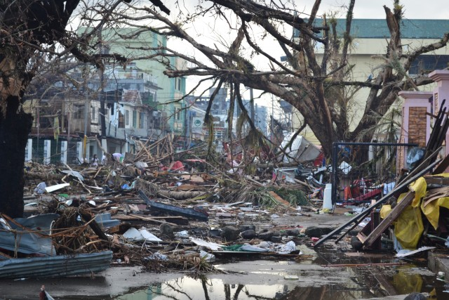 The incredible damage inflicted on the Philippines by Typhoon Haiyan in 2013 may become more commonplace at higher latitudes. Image by Eoghan Rice - Trócaire / Caritas.