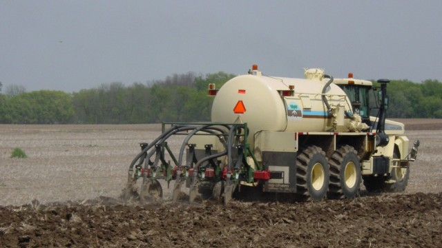 The wastewater-derived fertilizer is applied to thousands of acres in Wisconsin. Photo courtesy of Michael Mucha.