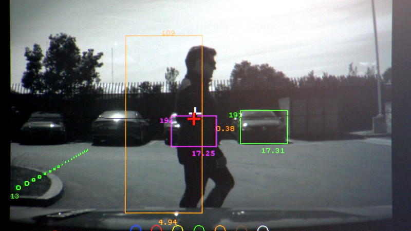 Prototypes of self-driving cars are equipped with an array of sensors, including cameras. Image by Blake McHugh, KQED Science