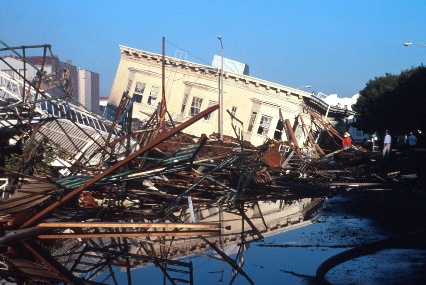 The Marina District of San Francisco was hit hard by the Loma Prieta earthquake.