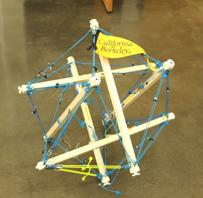 early prototype of tensegrity robot
