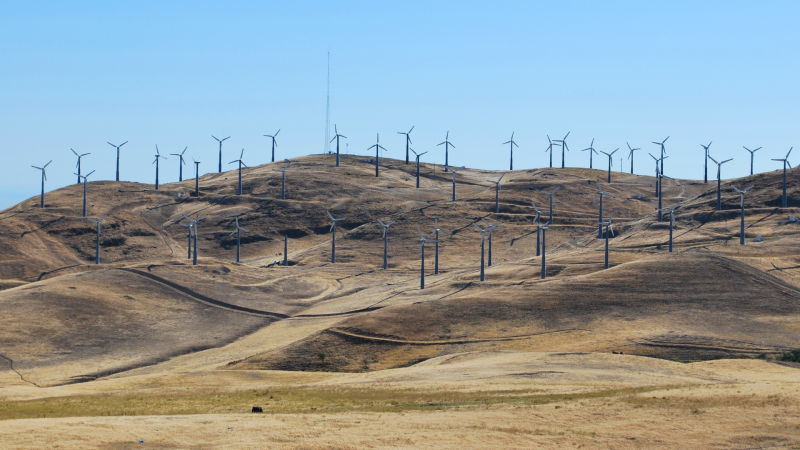 EDF Renewable Energy, a wind energy company based in San Diego, plans to replace about 300 turbines at its Patterson Pass wind farm, in the Altamont, with 10 to 12 new turbines. Together, the new turbines will produce twice as much electricity as the old ones did. Biologists have found that replacing a group of old turbines with carefully sited new turbines can reduce bird mortality at wind farms.