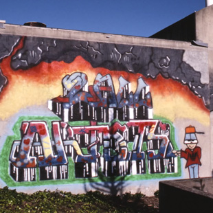Rarely seen images of Bay Area graffiti in the 1980s and an interview with graffiti writer Neon.