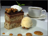 Banana-Chocolate Mousse Torte with Peanut Butter Ice Cream