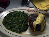 Filet Mignon, Bernaise Sauce, Creamed Spinach