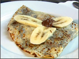 Nutella and Banana Crêpe