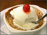 Warm Apple Crisp with Vanilla Ice Cream