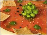 Carpaccio of Yellowfin Tuna