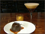 Warm Chocolate Cake and Blue Bottle Coffee Martini