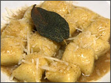 Truffle-Stuffed Gnocchi with Brown Butter and Sage Sauce