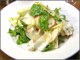 Endive Salad with Apples, Arugula, Hazelnuts and Gorgonzola