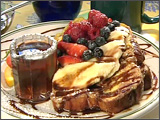 Chocolate Cinnamon French Toast with Fruit