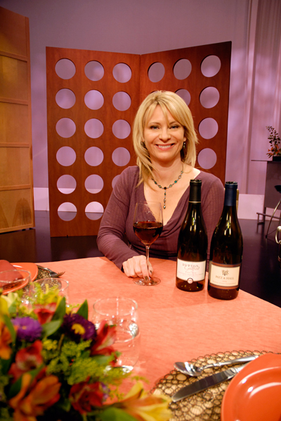 Leslie Sbrocco tasting wine from Check, Please! Bay Area episode 602